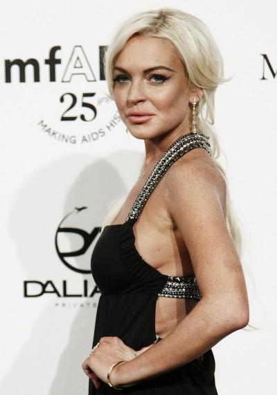 Lindsay Lohan Side Boob