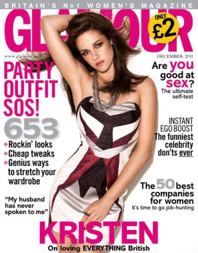 Kristen Stewart Glamour UK Cover