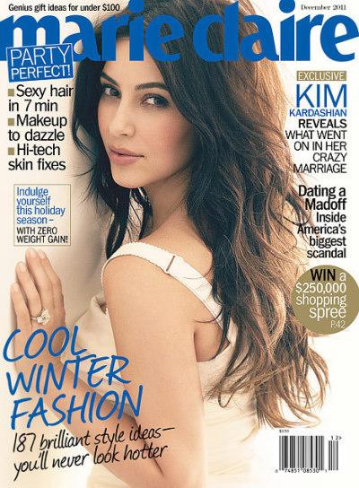 Kim Kardashian Marie Claire Cover