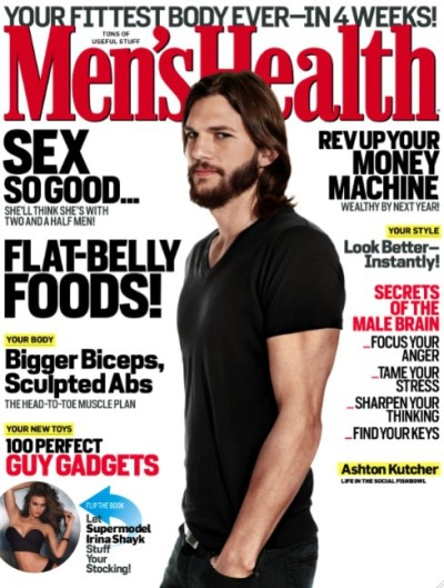 Ashton Kutcher Men's Health Cover