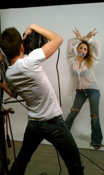 Miley Cyrus NOH8 Campaign Pic