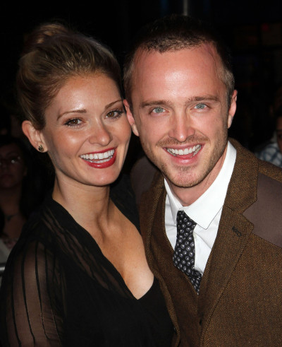 Aaron Paul with cute, Wife