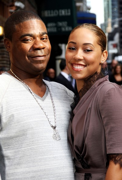 Megan Wallover and Tracy Morgan