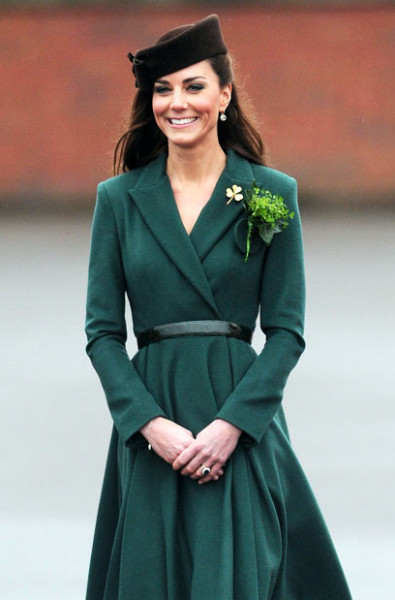 Kate Middleton in Green