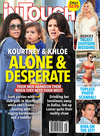 Kim and Khloe Tabloid Cover