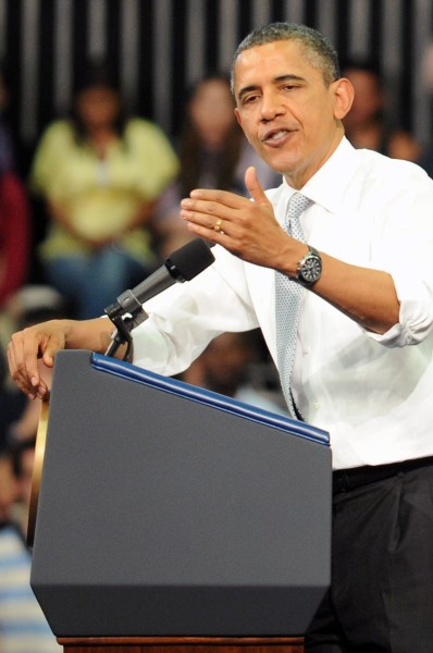 Obama Giving a Speech