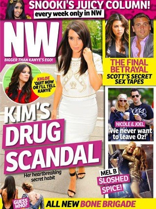 Kim Kardashian Pill Popping Cover