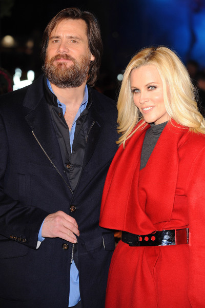 Jim Carrey and Jenny McCarthy together in London