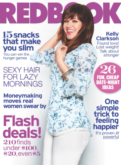Kelly Clarkson Redbook Cover