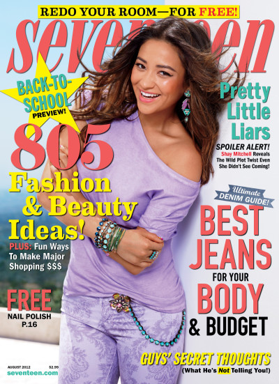 Shay Mitchell Seventeen Cover