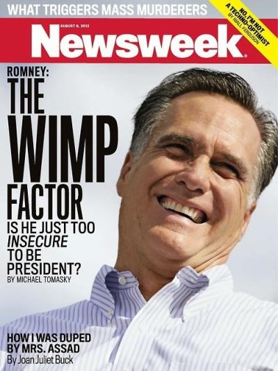 Mitt Romney Wimp Newsweek Cover