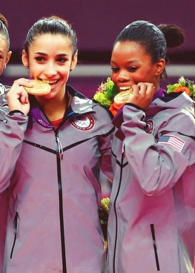 Aly Raisman and Gabby Douglas