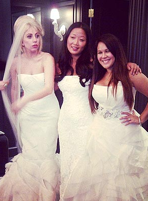 Lady Gaga, Vera Wang Wedding Dress