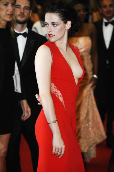 Kristen Stewart in a Red Dress