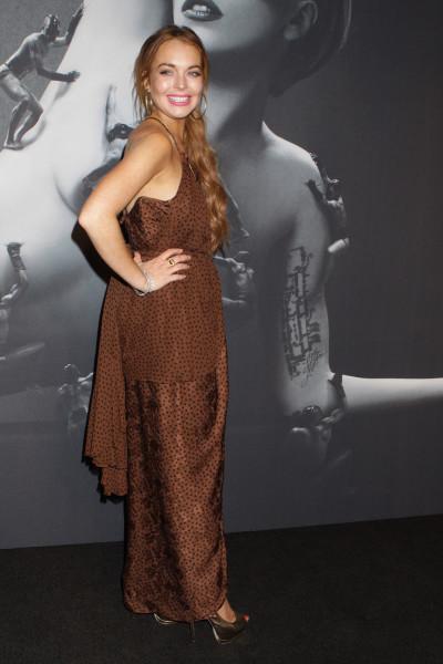 Lindsay Lohan Fragrance Launch Pic
