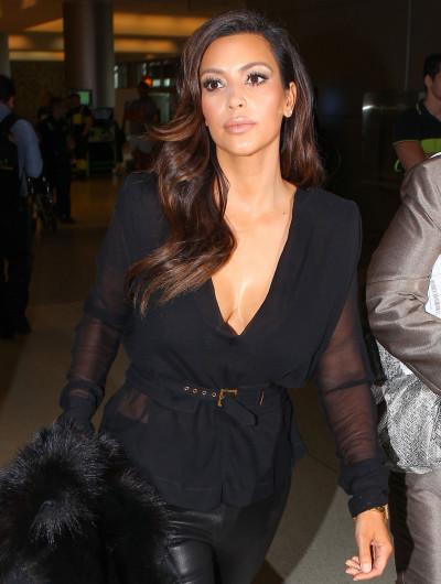Kim Kardashian with Cleavage