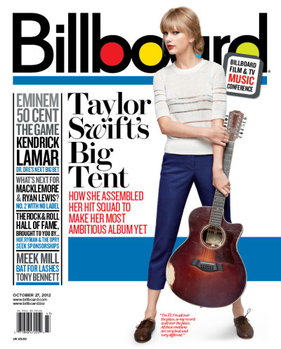 Taylor Swift Billboard Cover