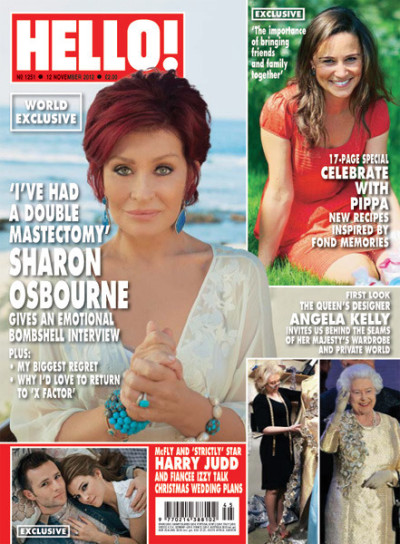 Sharon Osbourne Hello Cover