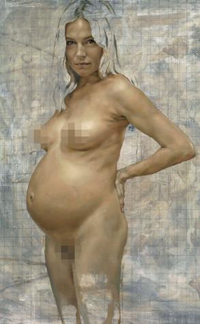 Sienna Miller Nude Painting