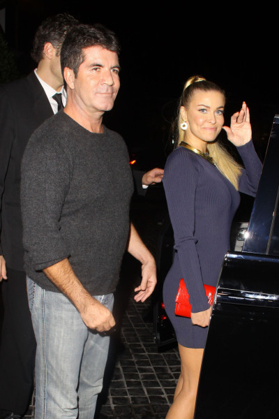Simon Cowell and Carmen Electra