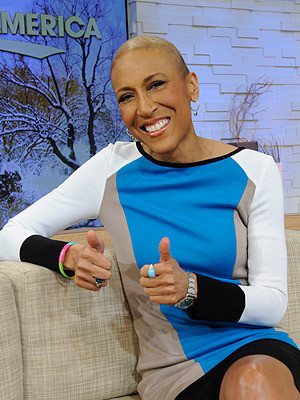 Robin Roberts on GMA Set