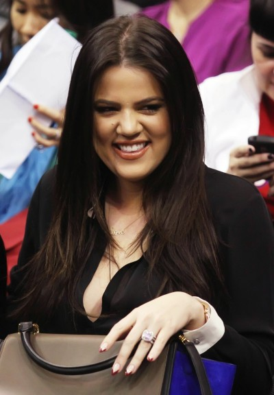 Khloe Kardashian at Basketball Game