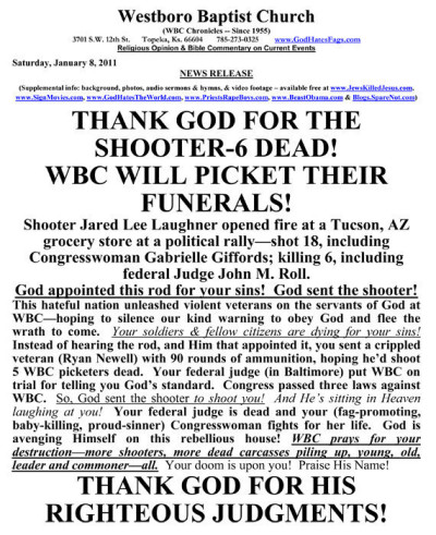 Westboro Baptist Church Message