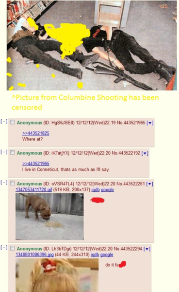 Adam Lanza on 4Chan?