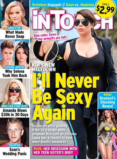 Kim Kardashian In Touch Cover