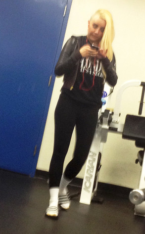 Amanda Bynes Gym Photo