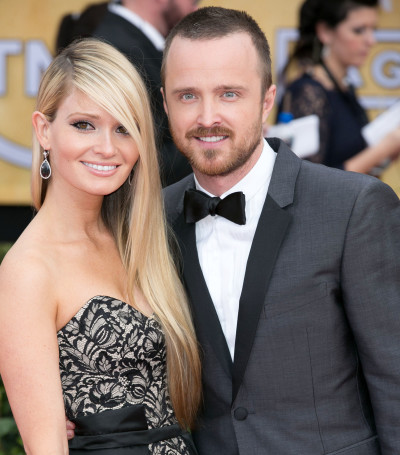 Lauren Parsekian and Aaron Paul Pic