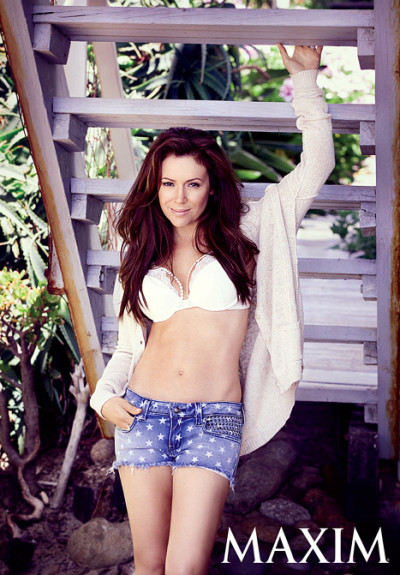 Alyssa Milano Maxim Photo