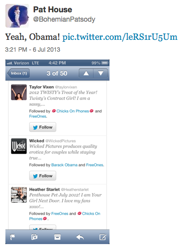 Obama Follows Wicked
