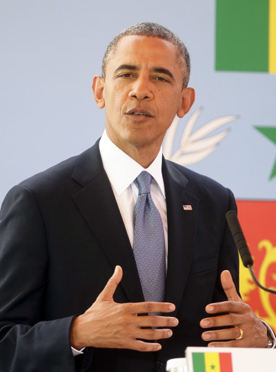 President Obama at the Mic