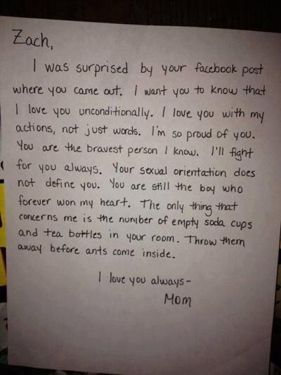 Zach Gibson Letter