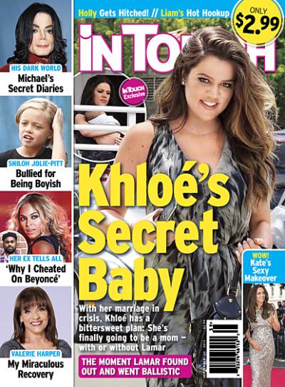 Khloe Kardashian Baby Cover