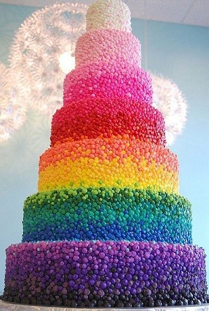 Rainbow Wedding Cake