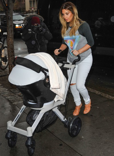 Kim Kardashian, North West Stroller