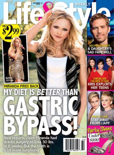 Sadoka.com - Miranda Lambert: Weight Loss NOT Due to Plastic Surgery, Gastric Bypass!