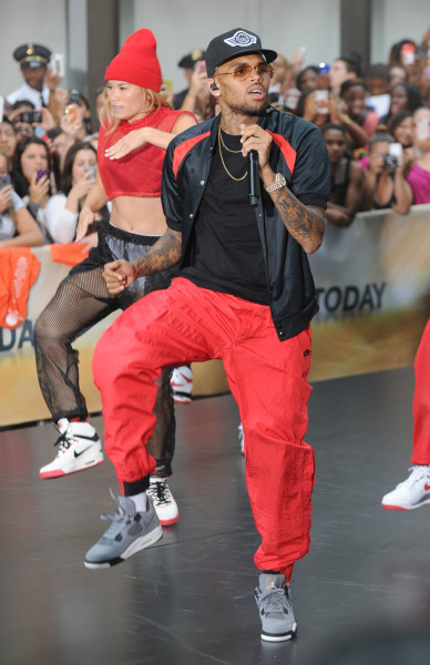 Chris Brown in Red Pants