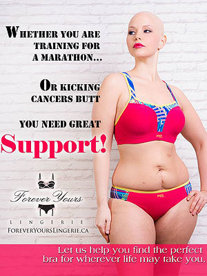 Elly Mayday Post-Chemo Lingerie Ad