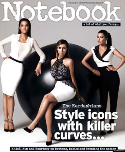 Kim, Khloe and Kourtney Kardashia on Notebook