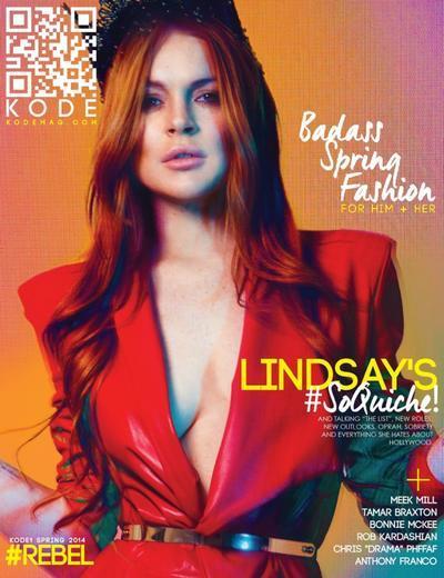Lindsay Lohan Kode Magazine Cover