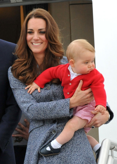 Kate Middleton and Prince George Image