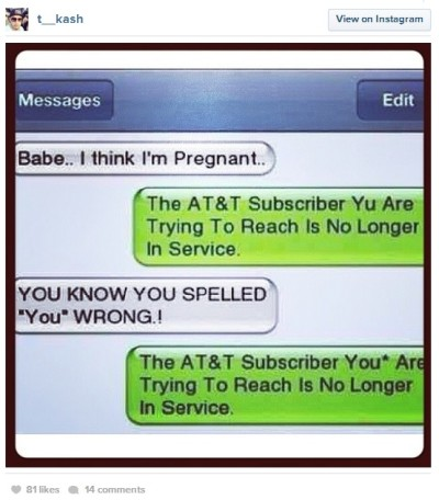 Breakup Text FAIL