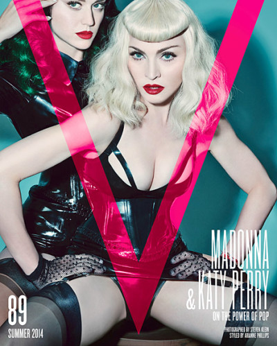 Katy Perry, Madonna V Magazine Cover