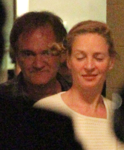 Quentin Tarantino and Uma Thurman Photo