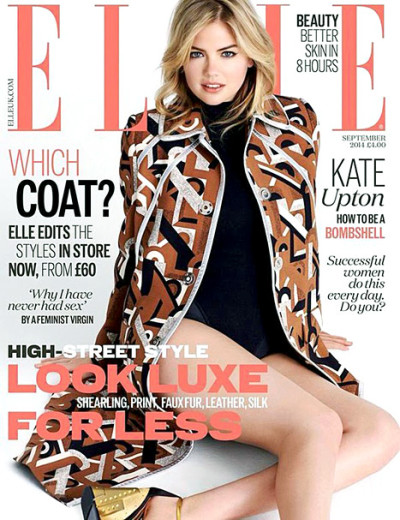 Kate Upton Elle UK Cover