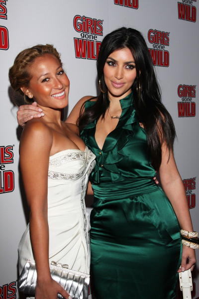 Kim Kardashian and Adrienne Bailon