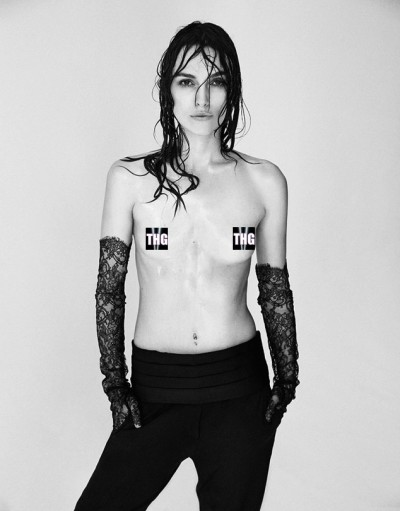 Keira Knightley Topless in Interview